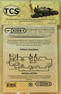 NEW N TCS #1481 K0D8-E Drop In Decoder for Kato E5/6 Locos