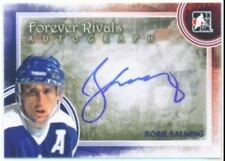 "BORJE SALMING ""AUTOGRAPH CARD"" ITG FOREVER RIVALS TORONTO MAPLE LEAFS"