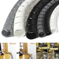 2M Cable Hide Wrap Tube 10/25mm Organizer & Management Wire Spiral FlexibleQ9Q
