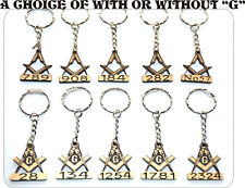 10  x MASONIC GIFT PERSONALISED KEY RINGS WITH YOUR OWN LODGE NUMBER GIFT