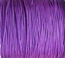 25 Auf 440 Meter Thread Makramee Spitze 1mm Violett Geflecht (MA1-22) Kumihimo