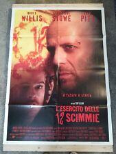 ESERCITO 12 SCIMMIE Manifesto Film 2F Poster Originale 100x140 PITT WILLIS STOWE