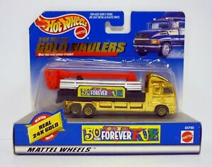 HOT WHEELS 24K GOLD HAULERS Toys R Us 50 Years Diecast Truck MOC COMPLETE 1998