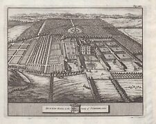 1707 Hutton-in-the-Forest Hall Skelton Cumberland antique print engraving