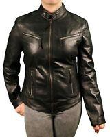 Aviatrix Women's Black 2131 Vintage Leather Jacket XS