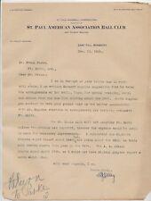 1899 MIKE KELLEY Louisville (Major Lg) Vintage Signed Baseball Letter D. 1955