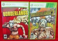 Borderlands 1 + 2 Games XBOX 360 - Game Lot - Tested / Working