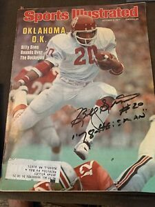 Oct 3 1977 Sports Illustrated magazine Billy Sims Autographed W/  Pic 78 Heisman