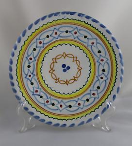 Plato de ceramica PUENTE DEL ARZOBISPO pintado a mano.  23,5cm diametro