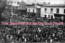 HA 653 - Large Crowd In The Square, Woolston, Southampton, Hampshire - 6x4 Photo