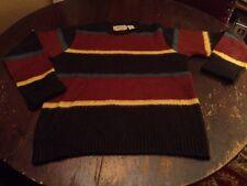 O'Hanlon Mills Carragn Kerry Sweater Medium Acrylic & Wool Vintage Stripes Super