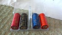 """VINTAGE Initialed """"PP"""" Poker Chips Carrying Case Gold on Edges"""