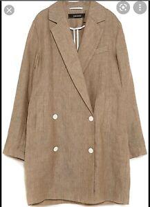 Zara Linen Oversized Blazer