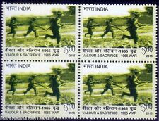Valour & Sacrifice, 1965 India Pakistan War, Soldiers, 2015 MNH Blk 4
