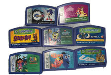 Leapfrog Leapster Learning Game LOT 8 Scooby Doo, Dora, Disney Princess, Sonicx
