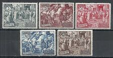 Vatican stamps 1951 YV 167-171  MLH  VF