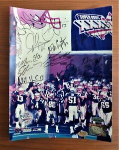 "2001-2002 Super Bowl Patriots Signed 8""x10"" Tristar COA Auto Autographed RARE"