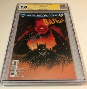 DC Comics ALL STAR BATMAN #1 CGC 9.8 VARIANT SIGNED BY ROMITA JR & SCOTT SNYDER