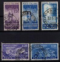 P131664/ ITALY / SASSONE # 623 – 624 – 658 – 664 - 665 USED - CV 315 $