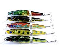 5PCS Fishing Lures Multi Jointed Swimbaits Tackle Crankbait Bass Pesca 0.75oz