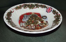 "Queen's Christmas Morning 4 soup bowls 8"" made in England"