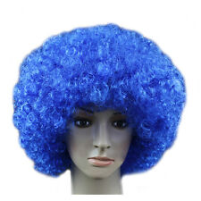 ADULT COSPLAY CLOWN COSTUME WIG BLUE RED PINK GREEN HALLOWEEN CURLY FULL WIGS