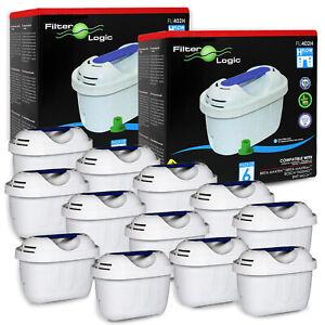 12 x FilterLogic FL402-E Water Filters fits Brita Maxtra+ Marella Style Elemaris