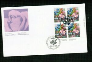 CANADA 1980  FLOWER GARDEN  FDC BL/4  see scan  MNH  #855  BOX 508
