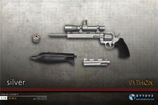"ZYTOYS Sliver PYTHON Miniature Pistols 1/6 Scale Gun Model Toy Fit 12"" Figures"