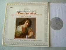 J.S. BACH Flute Sonatas BWV 1033-5/Partita Nicolet Richter Fink vinyl LP