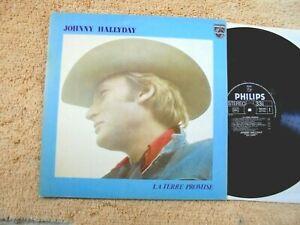 "JOHNNY HALLYDAY Vinyle LP 12"" LA TERRE PROMISE Fr 1975 Philips 9101 014 superbe"