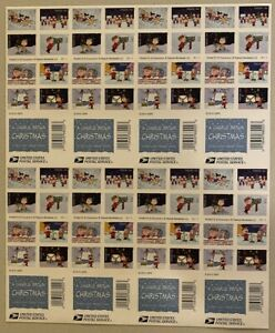 Charlie Brown Xmas NDC Press Sheet of Eight Panes of 20 Forever Stamps Each