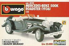 X1169 BBURAGO - MERCEDES Benz 500 K Roadster (1936) - Pubblicità 1991 - Advertis