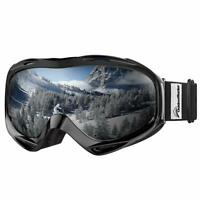 OutdoorMaster OTG Ski Goggles Over Glasses Ski Snowboard Goggles for Men Women