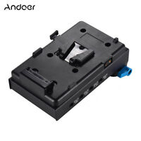 Andoer V-Mount Battery Plate Adapter for BMCC BMPCC Nikon for Monitor Recorder