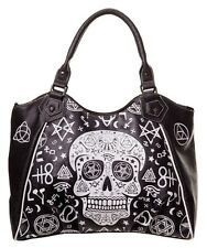 Pentagram Skull Handbag by Banned Shoulder Bag Occult Symbols Illuminati Gothic
