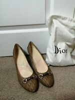 Christian Dior Brown monogram Pumps/round toe shoes heels 8UK /42EU