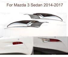 2 Chrome Rear Fog Light Lamp Frame Cover Trim Strip For Mazda 3 Sedan 2014-2017