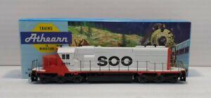 Athearn 4407 HO Soo Line SD40-2 Pwr Diesel Locomotive #6604 EX/Box