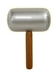Adult Kid One Size Large Inflatable Mallet Blow Up Halloween Costume Accessory
