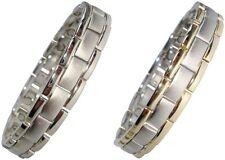 Magnetfeldtherapie Armbänder für Herren oder Damen Silber/Gold Farbe Verbundene