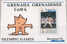 GRENADA GRENADINES 1992 Block 237 S/S 1393 Baseball Olympics Barcelona Sport MNH