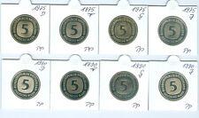 BRD  5 DM 1975 DFGJ - 1990 DFGJ  PP komplett (64 Münzen!)