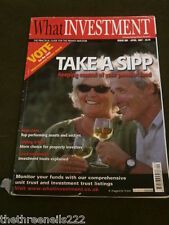 WHAT INVESTMENT #289 - TAKE A SIPP - APRIL 2007