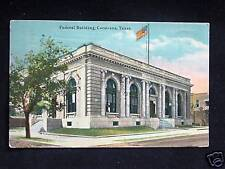 c.1910 Federal Building Corsicana TX post card