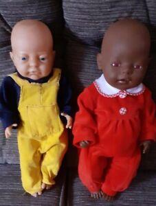 Anatomically correct baby boy doll and a zapf creation black doll.