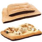 Pet Dog Bed Cushion Mattress Fleece Blanket Pillow Cat Kennel Soft Mat Washable
