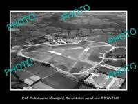 OLD POSTCARD SIZE MILITARY PHOTO AERIAL VIEW RAF WELLESBOURNE WARWICKSHIRE 1940