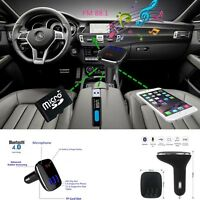 Car Kit MP3 Player FM Transmitter Bluetooth Wireless Radio Adapter 3 USB Charger