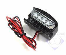 Kennzeichenbeleuchtung LED Mini - zum Klemmen - Alu schwarz